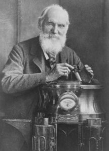 William Thomson, 1st Baron Kelvin (1824–1907), Belfast-born mathematical physicist and engineer.