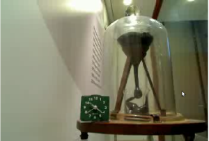 The Pitch Drop Experiment. Shot from the live webcam at the University of Brisbane.