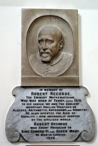 Robert Recorde (c. 1512 – 1558), a Welsh physician and mathematician.