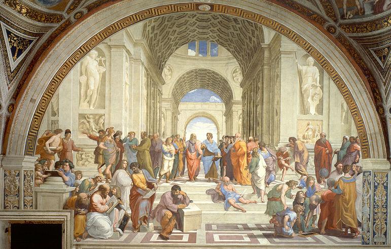 Raphael the school of athens dimensions depth
