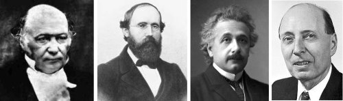 William Rowan Hamilton, Bernhard Riemann, Albert Einstein and Eugene Wigner.