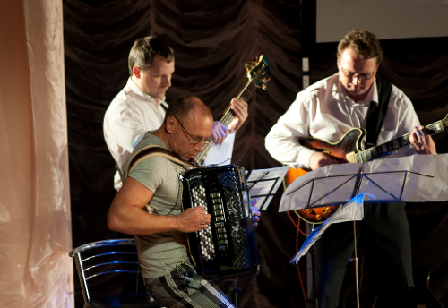 Alexey Borisov on the accordion.