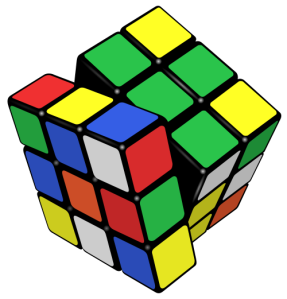 Rubik's Cube, invented in 1974 by Hungarian professor of architecture Ernő Rubik.