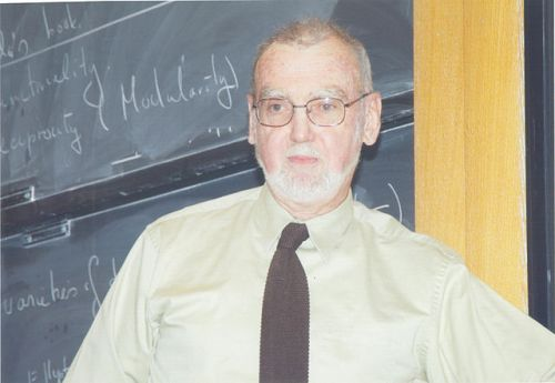Canadian mathematician Robert Langlands, who formulated a series of far-reaching conjectures.