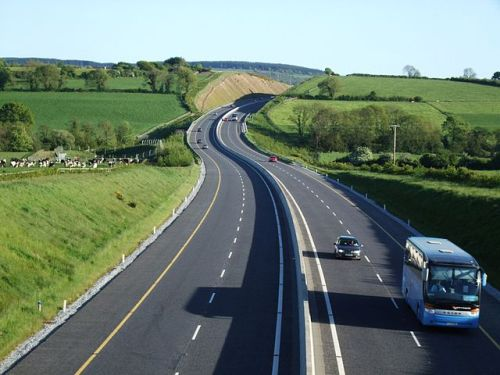 The M8 approaching Watergrasshill in Cork [image from Wikimedia Commons].