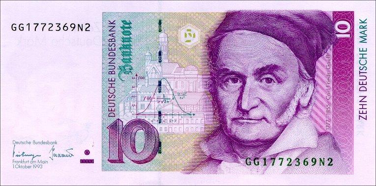 10 Deutschmark currency note