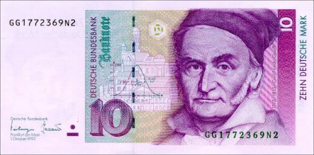 10 Deutschmark currency note