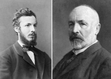 Georg Cantor (1845 – 1918) around 1870 (left) and in later life (right).