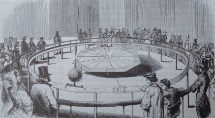 Engraving in L'Illustration of Foucault's pendulum in the Panthéon in 1851.