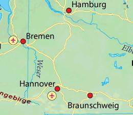 GermanyNorthMap
