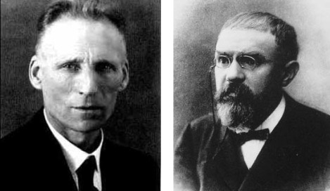 Left: Luitzen Brouwer. Right: Henri Poincare.
