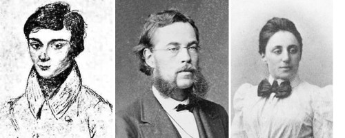 Evariste Galois, Sophus Lie and Emmy Noether.