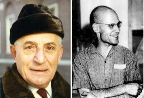 Left: Oskar Zariski. Right: Alexander Grothendieck