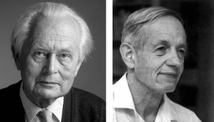 Left: Piet Hein (1905-1996). Right: John Nash (1928-2015).
