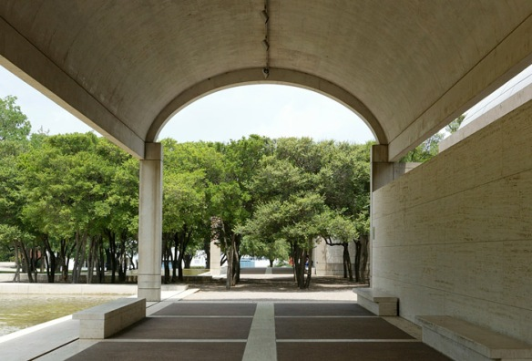 Cycloidal arch at the Kimbell Art Museum, Forth Worth, TX.