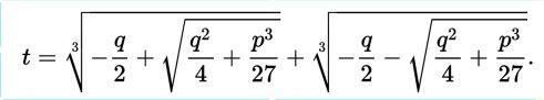 cardano-formula