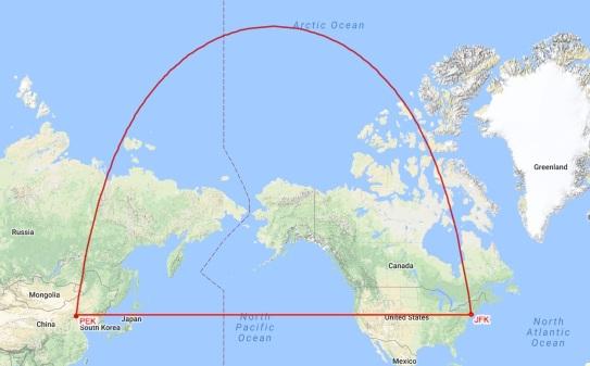 JFK-PEK-Mercator