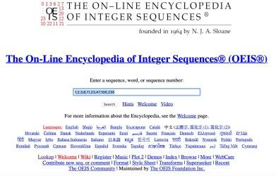 OEIS-Homepage